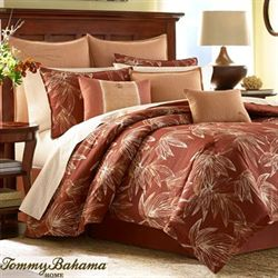 Cayo Coco Comforter Set Rust
