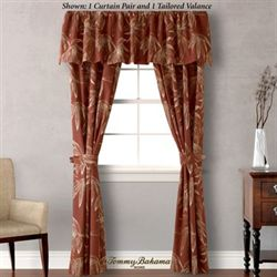 Cayo Coco Tailored Curtain Pair Rust 84 x 84