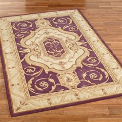 French Legacy Rectangle Rug Plum