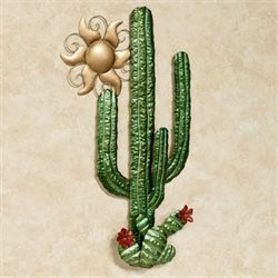 Cactus Sunrise Wall Art Green