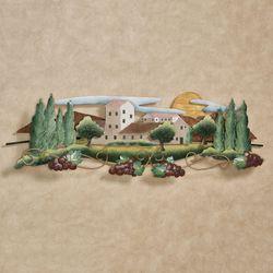 Tuscan Vineyard Wall Sculpture Multi Earth