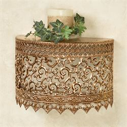 Tiarra Openwork Wall Shelf Gold