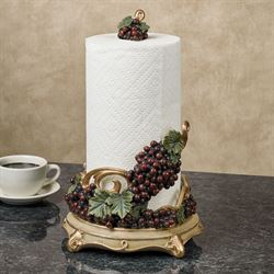 Vigne Elegante Paper Towel Holder Dark Red