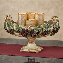 Vigne Elegante Decorative Centerpiece Bowl Dark Red