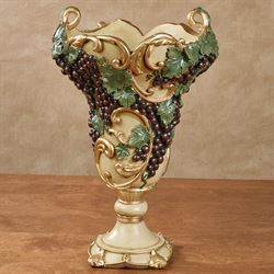 Vigne Elegante Decorative Table Vase Dark Red