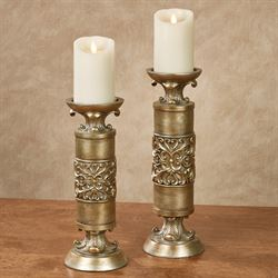 Laryssa Candleholders Champagne Gold Set of Two