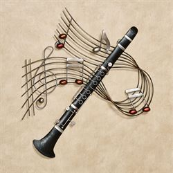 Clarinet Melodies Wall Art Black
