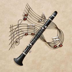 Clarinet Melodies Wall Art Black