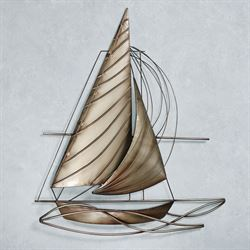 Sail Away to Paradise Wall Art Champagne Gold