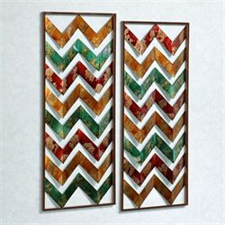 Sunset Glow Wall Panel Set Multi Jewel Set of Two
