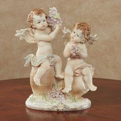 Delicate Vine Cherubs Figurine Vanilla