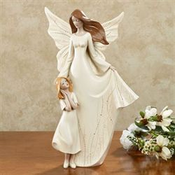 On Angels Wings Figurine Ivory