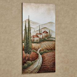 Tuscan Valley Canvas Wall Art Multi Metallic