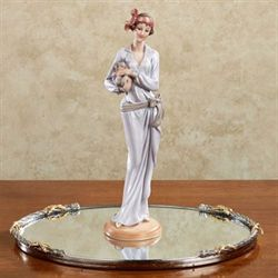 Puppy Love Lady Figurine Lavender