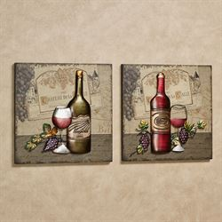 Chateau de Wine Wall Art Beige Set of Two