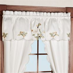 Lily Bloom Tailored Curtain Pair Light Cream 68 x 63