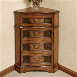 Cadiz Corner Accent Cabinet Honey Maple