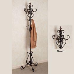 Selena Coat Rack Stand Dark Bronze