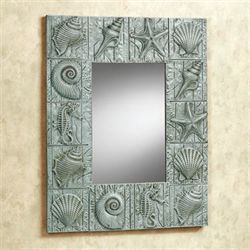 Coastal Finds Wall Mirror Aqua Mist