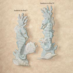 Seahorse in Reef I Wall Art Aqua