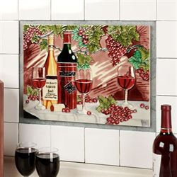 At the Winery Wall Art Red