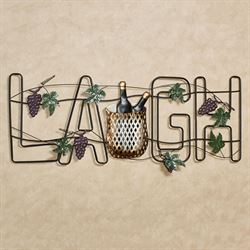 Celebrate and Laugh Wall Art Black