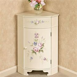 Madeline Corner Accent Cabinet Light Cream