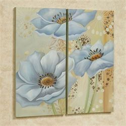 Whispering Blues Canvas Wall Art Set of Two