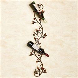Cantabria Branch Wall Wine Holder Brown