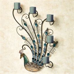 Peacock Jewels Wall Candelabra Multi Cool