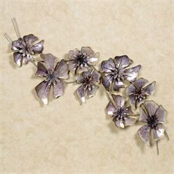 Floral Waltz Wall Sculpture Purple