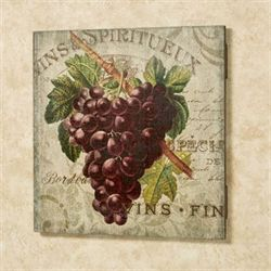 Vintage Wine II Wall Sign Multi Warm