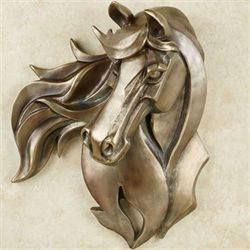 Kindred Spirit Horse Wall Art Golden Bronze
