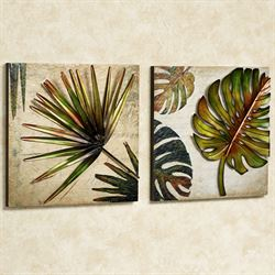 Tropical Impressions Wall Art Set Green Set of Two