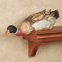 Mallard Duck Shelf Sitter Multi Earth