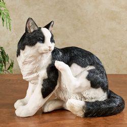 Merlin Cat Sculpture Black/White