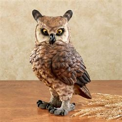 Watchful Night Owl Table Sculpture Multi Warm