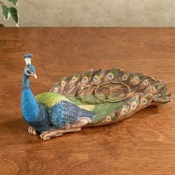Janett Peacock Tray Multi Jewel