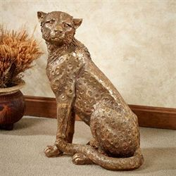 Cheetah Cub Sculpture Aged Gold