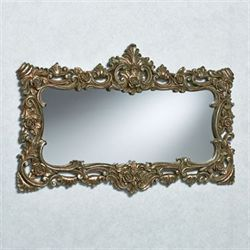Ashby Rectangular Wall Mirror Silver with Gold