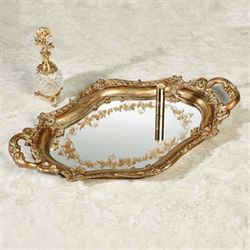 Rachelle Mirrored Vanity Tray Verdi Gold