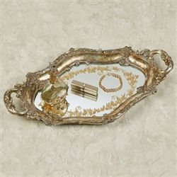 Rachelle Mirrored Vanity Tray Light Gold