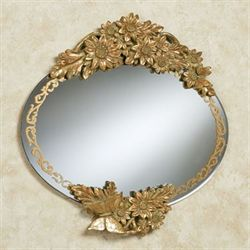Julianne Floral Mirror Verdi Gold