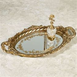 Maryann Vanity Tray Baroque Gold