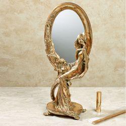 Jacqueline Vanity Mirror Verdi Gold