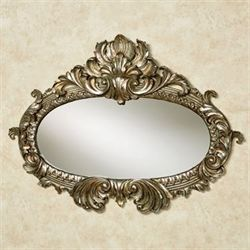 Bridgette Wall Mirror Silver with Gold