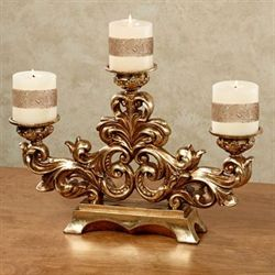 Fenton Candleholder Old World Gold