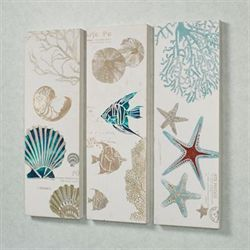 Jewels of the Ocean Wall Art Multi Cool Set of Three