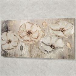 Floral Elegance Canvas Wall Art Beige