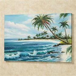 Tropical View Canvas Wall Art Multi Cool